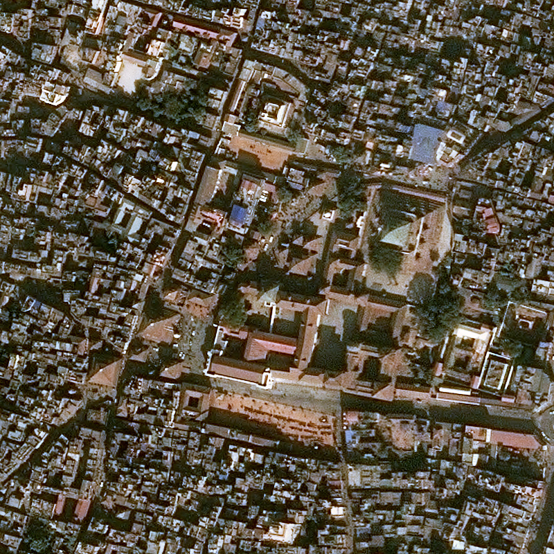 Citra Pleiades Sebelum Gempa Kathmandu Durbar Square