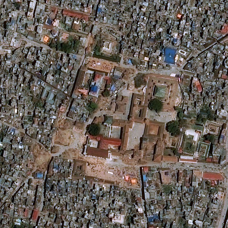 this satellite based map shows the before and after of the nepal