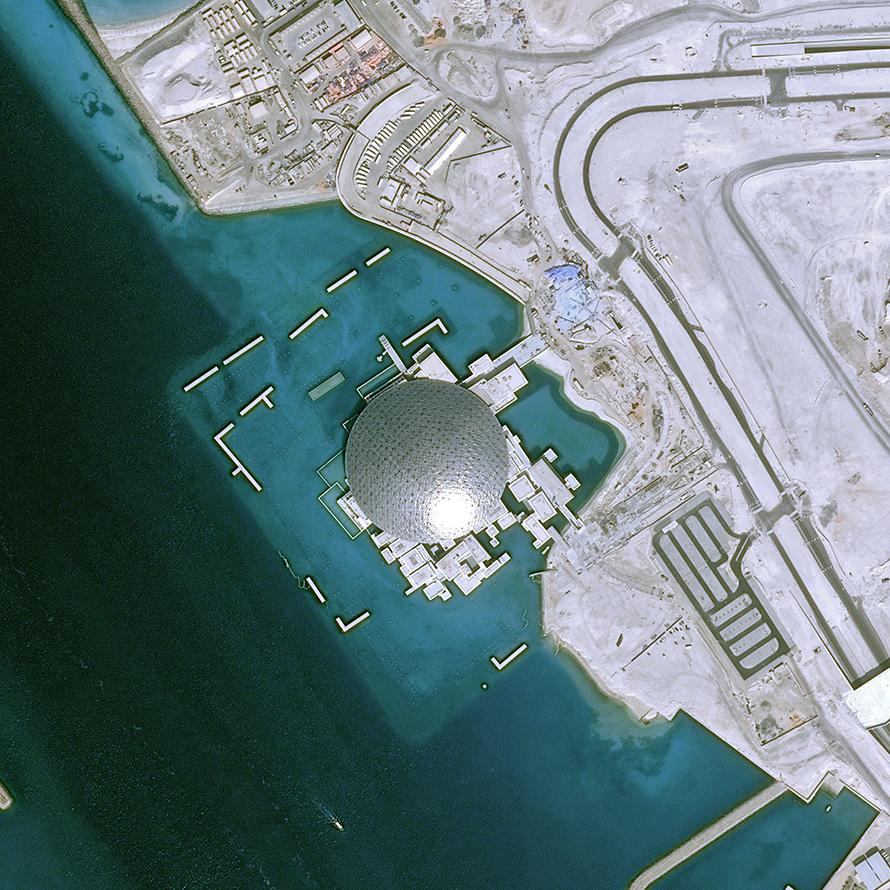 Pemantauan Situs Louvre Abu Dhabi oleh Pleiades