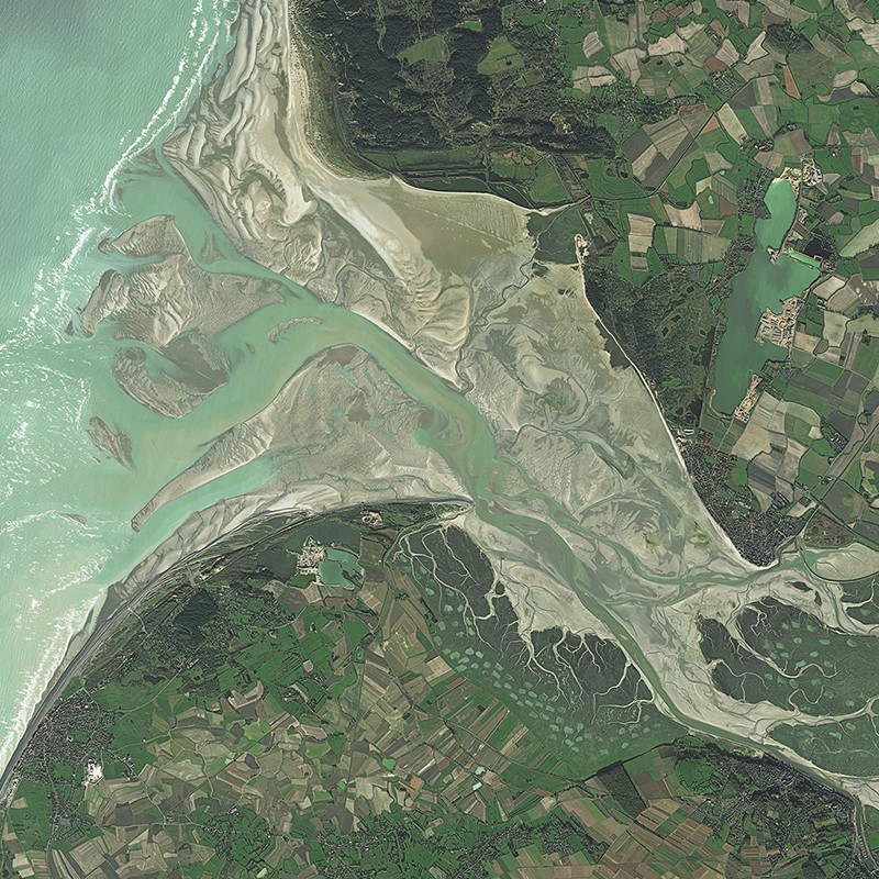Pléiades Satellite Image - Bay of Somme, France