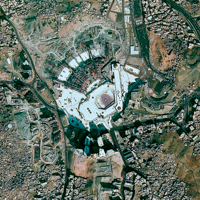 Spot 6 Satellite Image Mecca Saudi Arabia Airbus Defence And Space