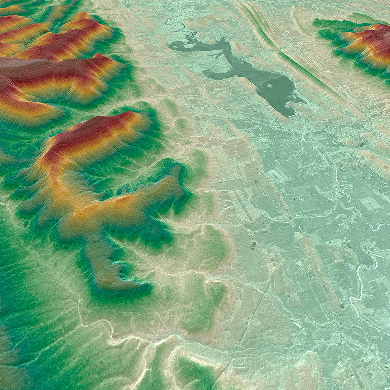 WorldDEM™ Digital Surface Model - Hot Springs, États-Unis
