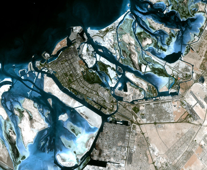 DMC Constellation Satellite Image - Abu Dhabi, United Arab Emirates