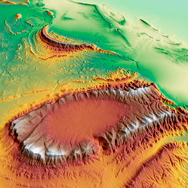 WorldDEM™ Digital Surface Model - Wilpena Pound, Australia