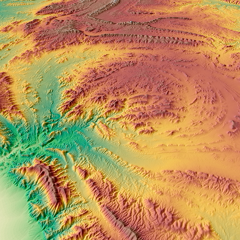 WorldDEM™ Digital Surface Model - Parachilna Gorge, Australie