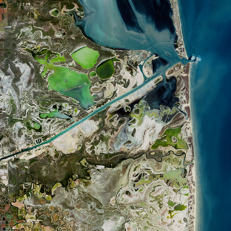 Image satellite SPOT 7 - Port Isabel, Etats-Unis
