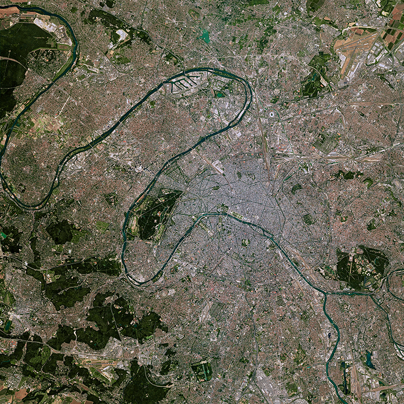 SPOT 7 Satellite Image - Paris, France