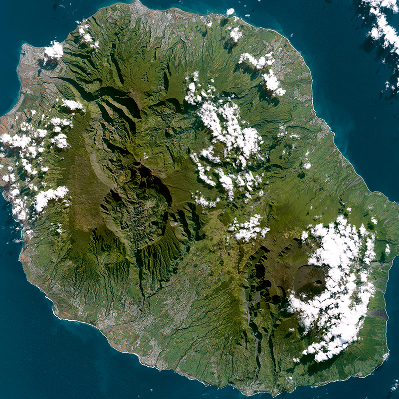 Image satellite SPOT 7 - La Réunion
