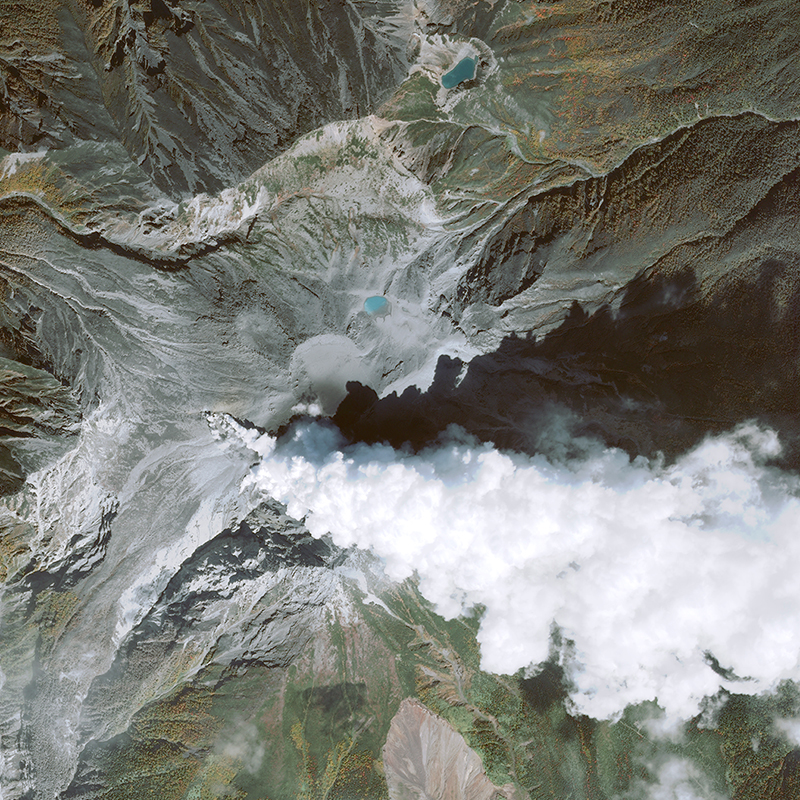Image satellite Pléiades - Eruption du Mont Ontake, Japon