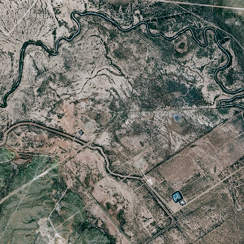 SPOT 6 Satellite Image - Yates Oil Fields, Texas, United States