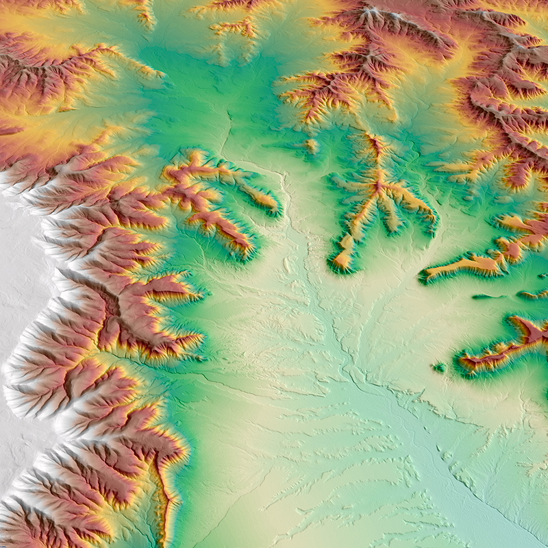 WorldDEM™ Digital Surface Model - Roggeveld Mountains, South Africa