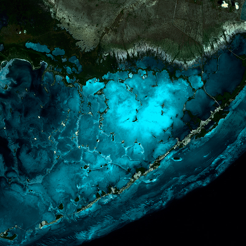 DEIMOS-1 Satellitenaufnhame - Die Florida Keys, USA