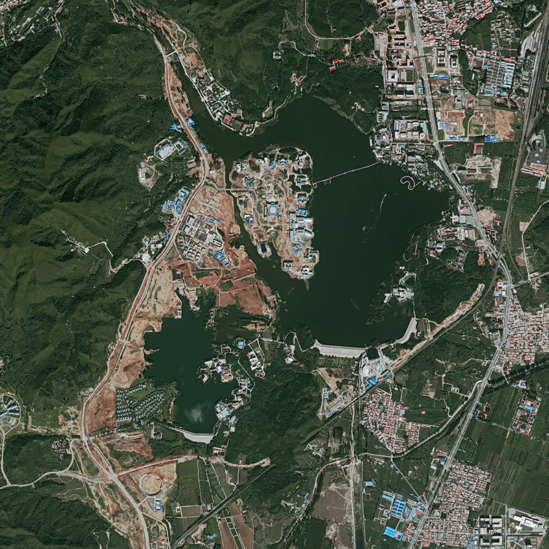 Pléiades Satellite Image - Yanqi Lake, China