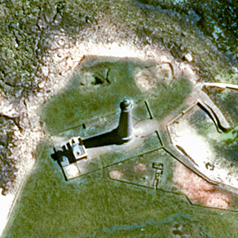 Pléiades Satellite Image - The Île Vierge Lighthouse, France