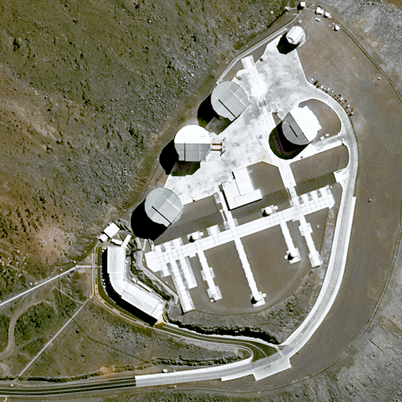 Image satellite Pléiades - Very Large Telescope du Cerro Paranal, Chili