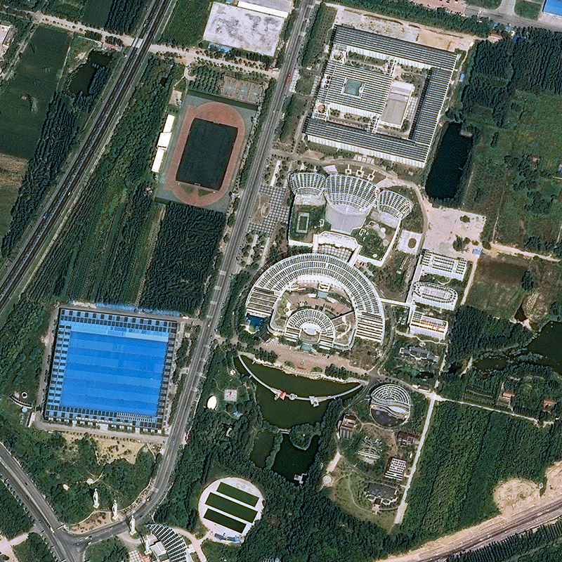 Image satellite Pléiades - Solar Valley, Chine
