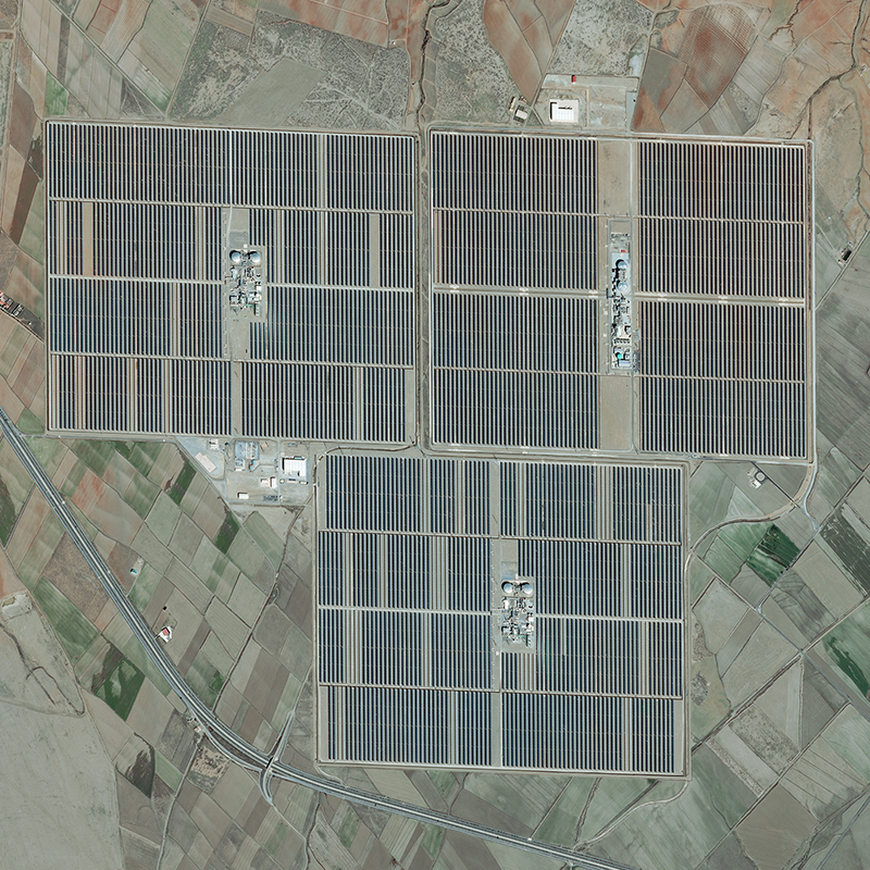 Pléiades Satellite Image - Andasol solar power station, Spain