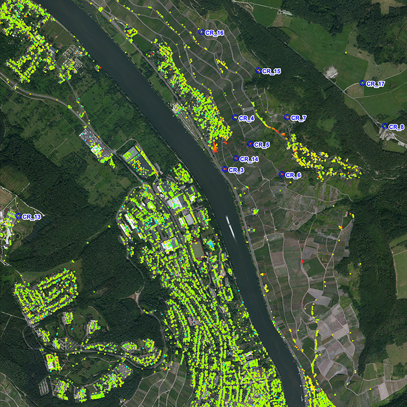 TerraSAR-X based Surface Movement Monitoring, Moselle River, Germany