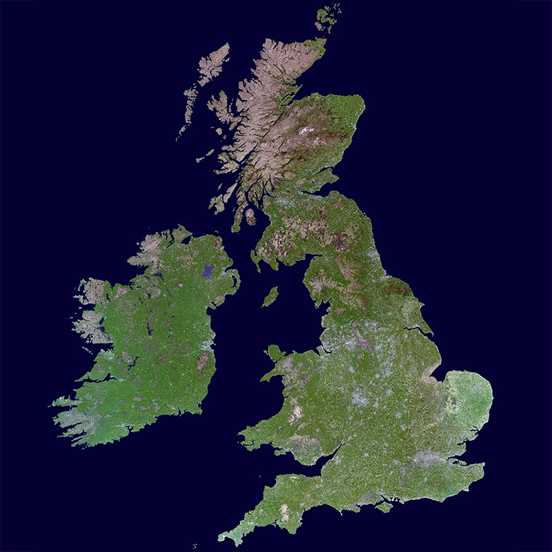 Satellite Image Mosaique UK-DMC2 - United Kingdom