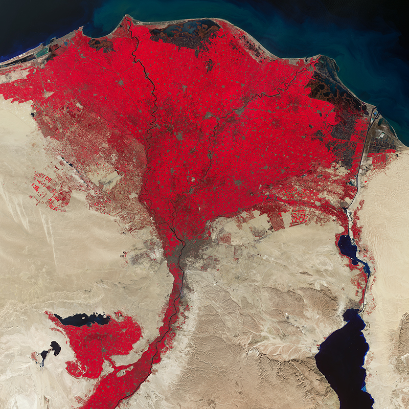 Satellite Image UK-DMC2 - Nile Delta, Egypt