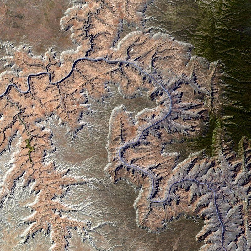 Imagen del satellite UK-DMC2 – Gran Cañón, Arizona