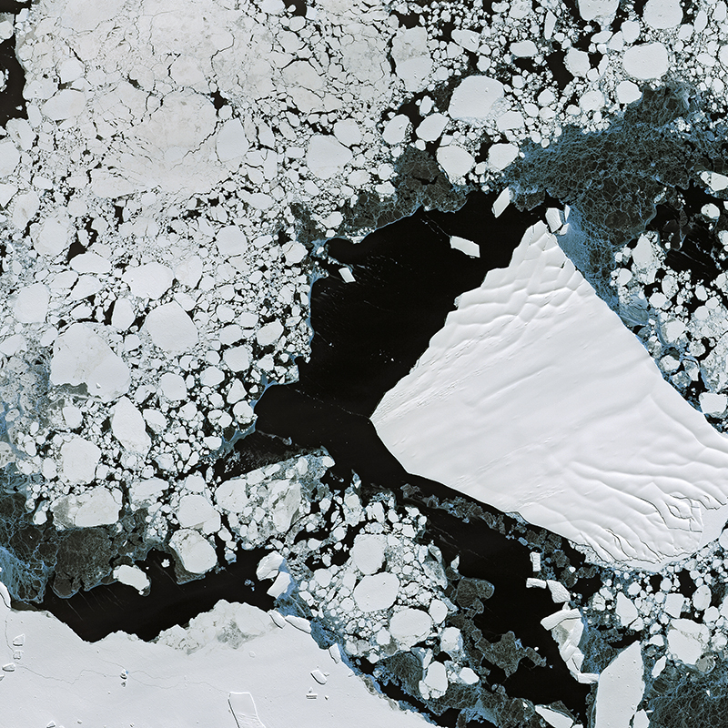 Image satellite DMC Constellation - Mer d'Amundsen, Antarctique