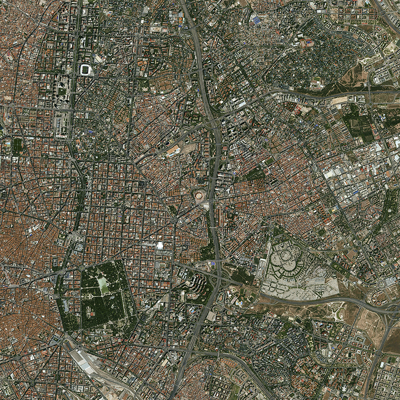 KazEOSat-1 Satellitenbild: Madrid, Spanien