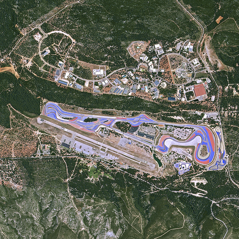 KazEOSat-1 Satellite Image - The Paul Ricard Circuit, France