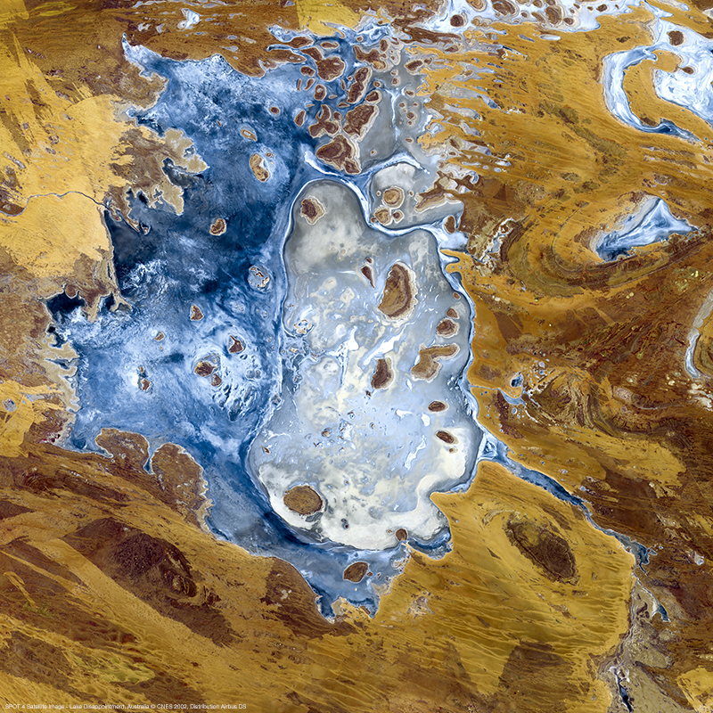 Image Satellite SPOT 4 - Lac Disappointment, Australie