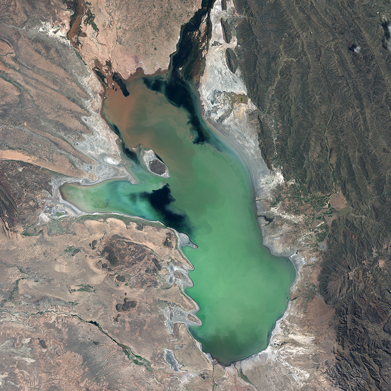 SPOT 6 Satellite Image - Lake Poopó, Bolivia - March 2013