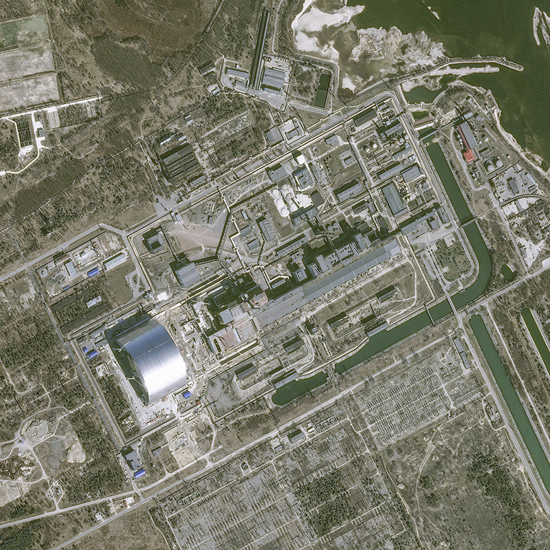 Pleiades satellite image – Chernobyl nuclear power plant