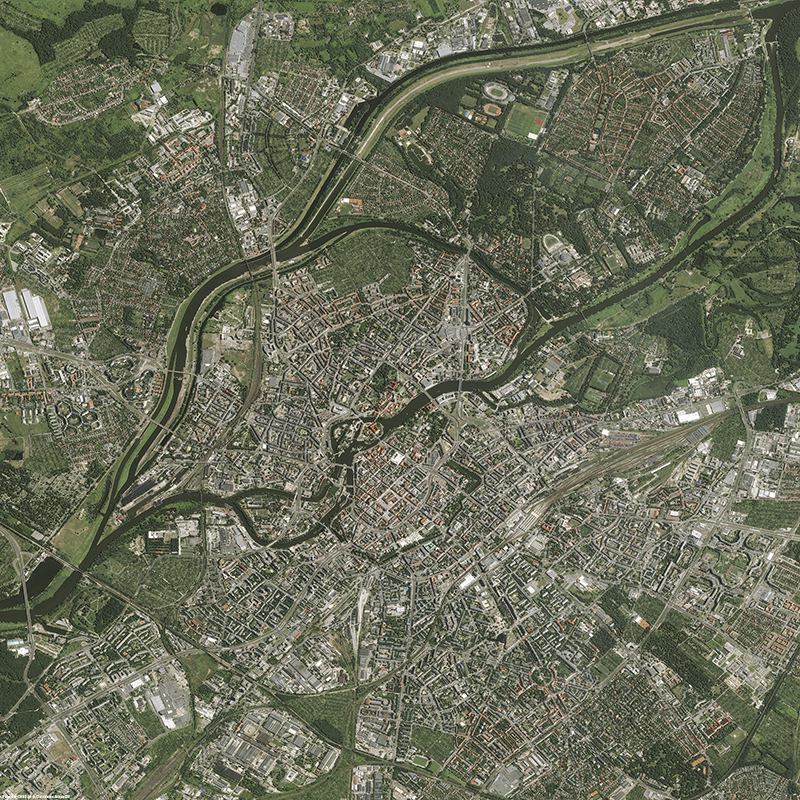 Image satellite Pléiades - Wroclaw, Pologne