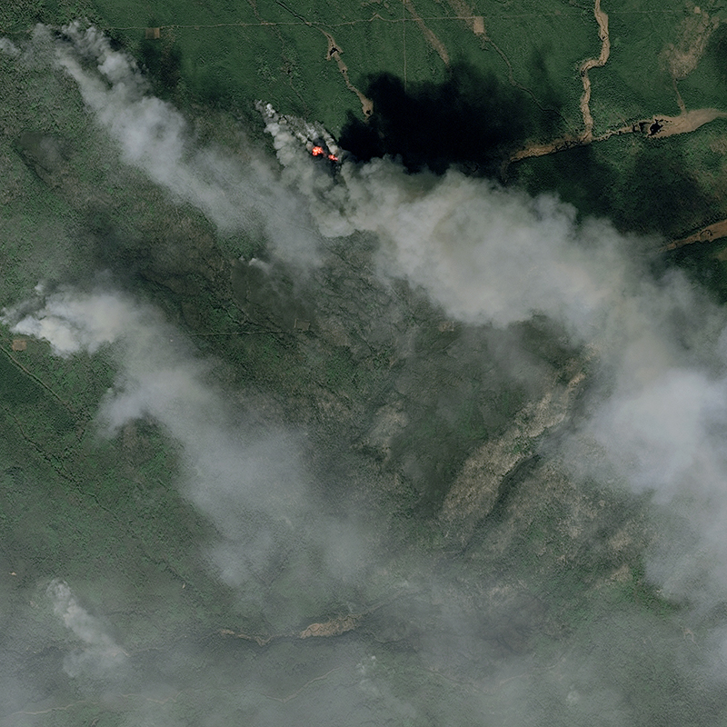 SPOT 6/7 Satellite Image - Fort McMurray Wildfire, Alberta, Canada