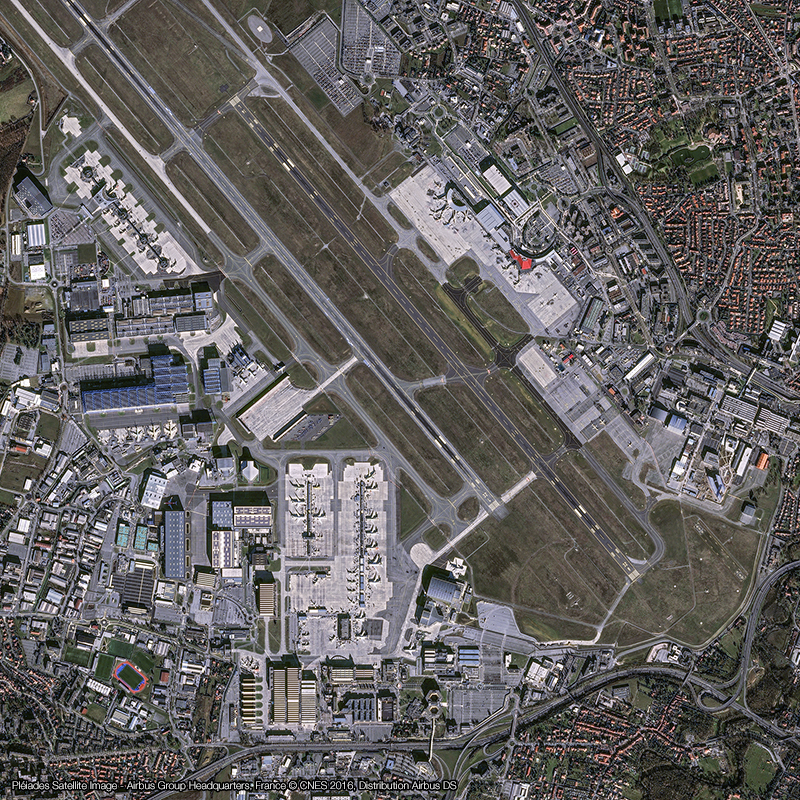 Pléiades Satellite Image – Sede central de Airbus Group
