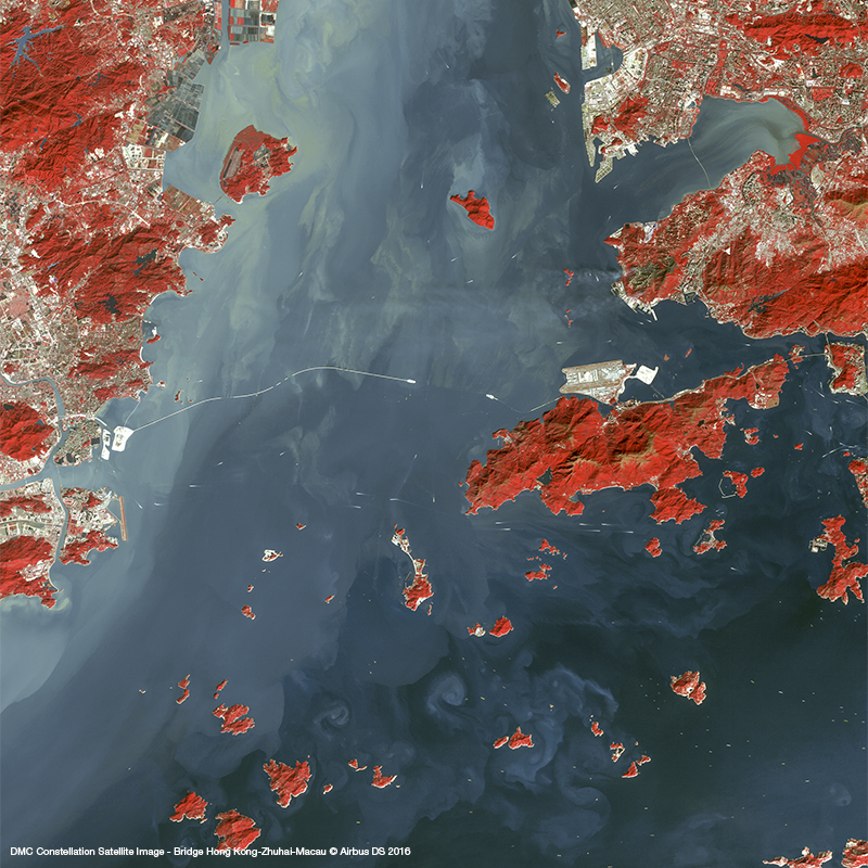 DMC Constellation Satellite Image - Bridge Hong Kong-Zhuhai-Macau
