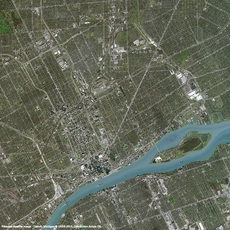 Pléiades Satellite Image - Detroit, Michigan