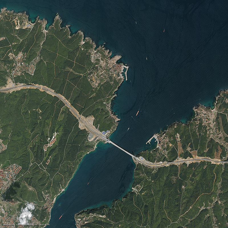 Pléiades Satellite Image - Bridge Over the Bosphorus