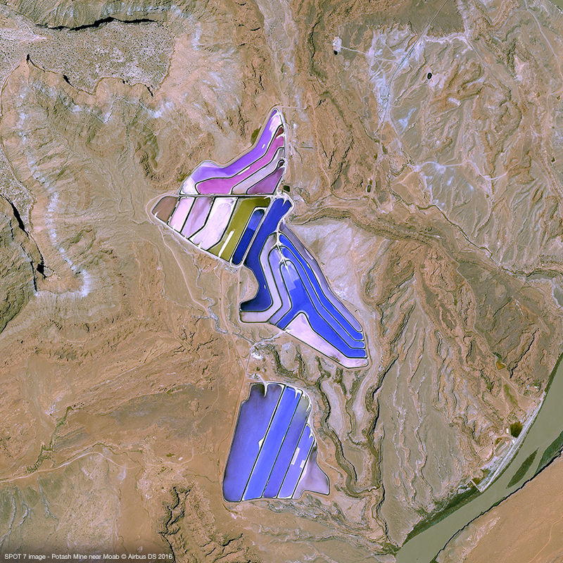 SPOT 7 image - Potash Mine near Moab
