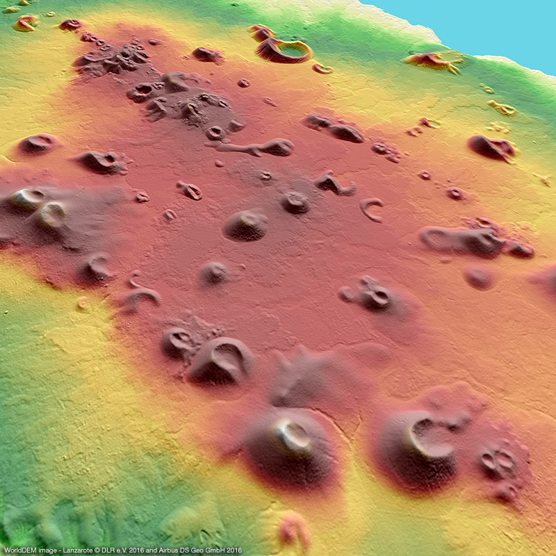 WorldDEM™ Digital Surface Model - Lanzarote, Spain