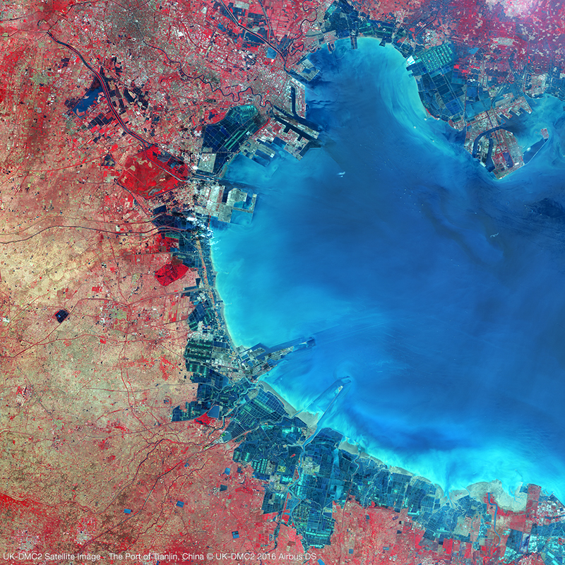 UK-DMC2 Satellite Image - The Port of Tianjin, China