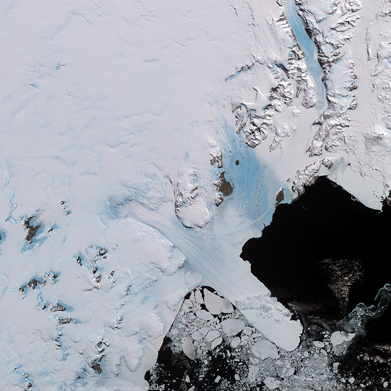 Image satellite UK-DMC2 - Glacier Mawson, Antarctique