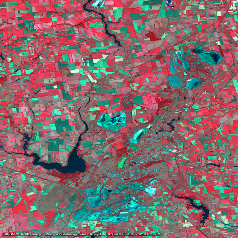 DMC Constellation Satellite Image - Mining and Metallurgy plant in Ukraine