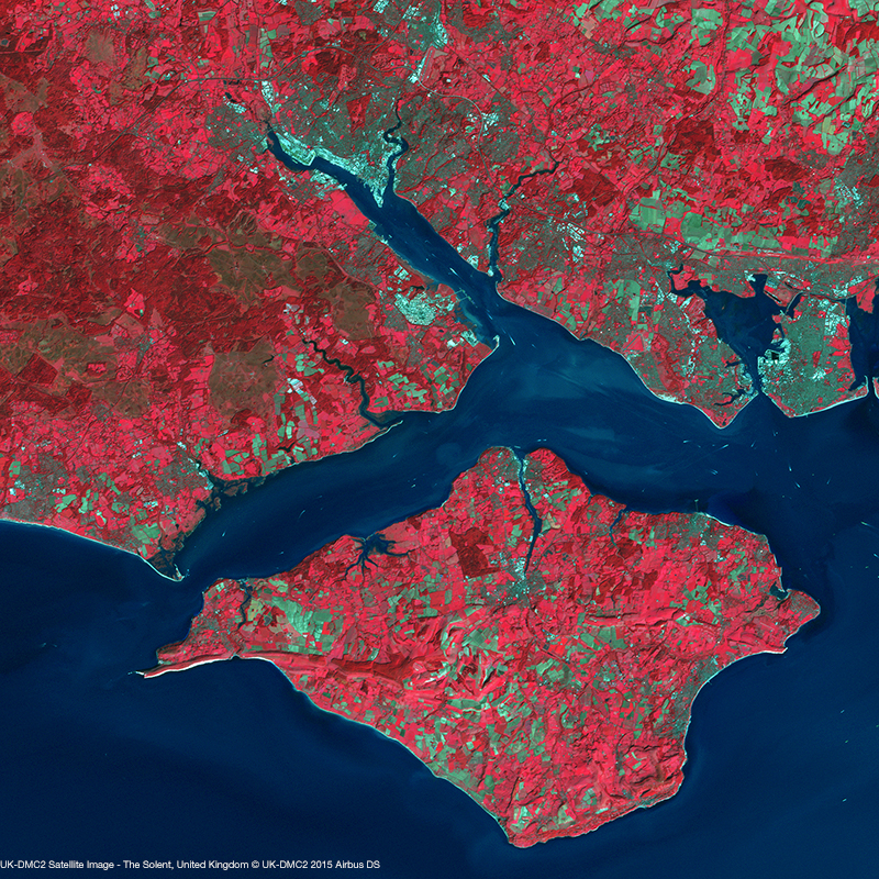 UK-DMC2 Satellite Image - The Solent