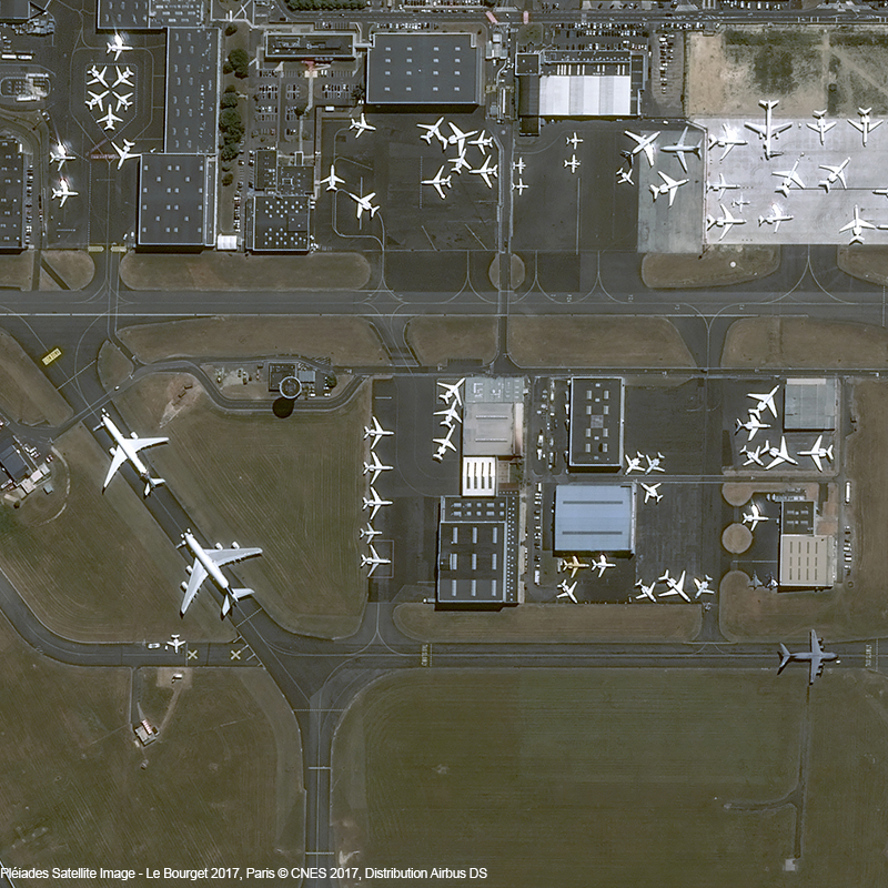Pléiades Satellite Image - Le Bourget 2017, Paris