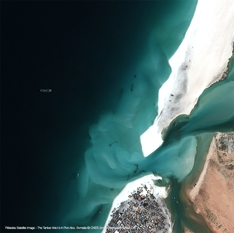 Pléiades Satellite Image - The Tanker Aris13 in Port Abo