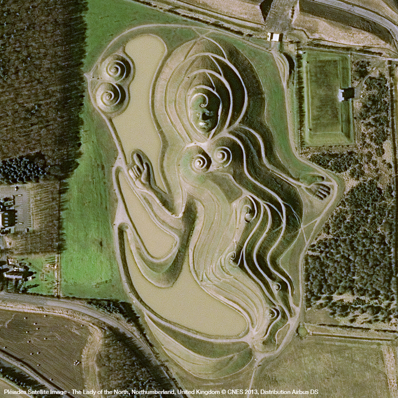 Pléiades Satellite Image - Northumberlandia, The Lady of the North