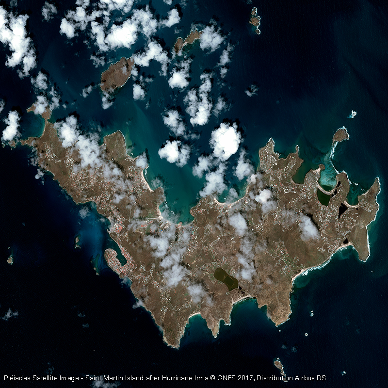Pléiades Satellite Image - Saint Barthélemy Island after Hurricane Irma
