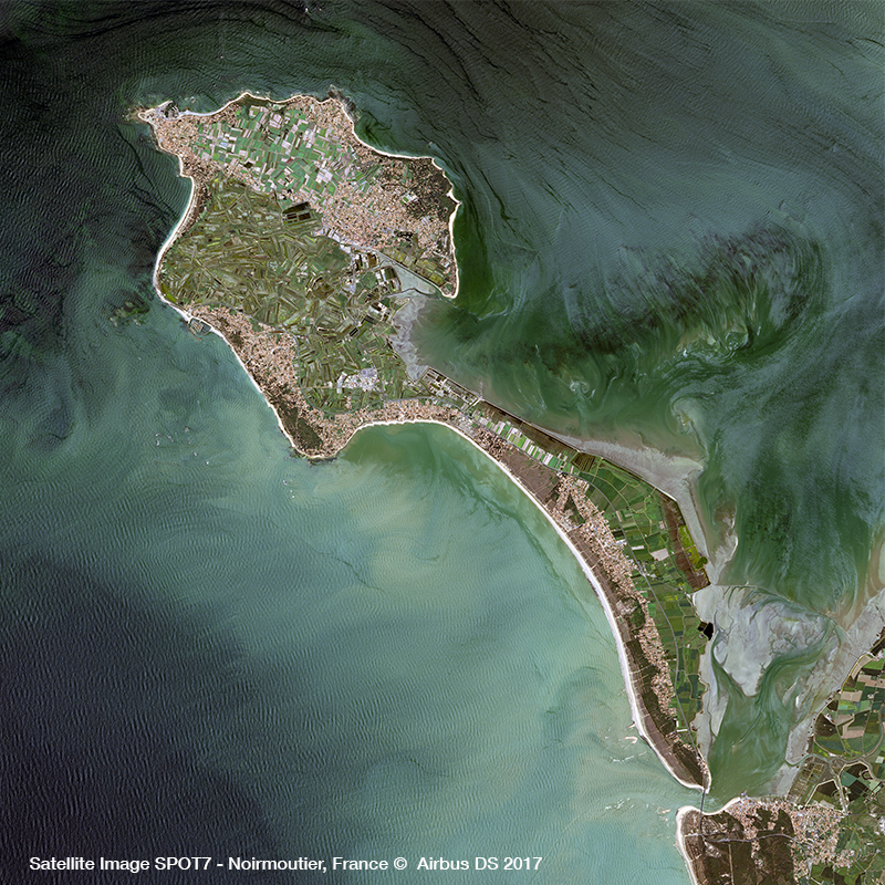 SPOT 7 Satellite Image - Noirmoutier Island, France