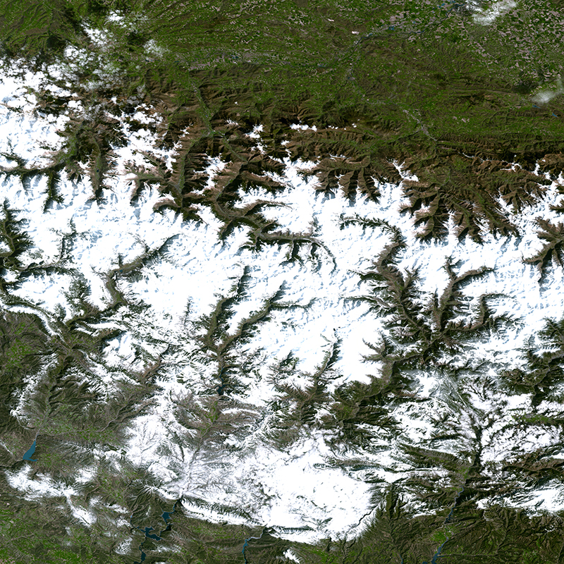 DMC Constellation Satellite Image - Pyrenees Mountains