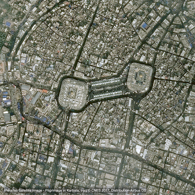 Pléiades Satellite Image - Pilgrimage  in Karbala, Iraq